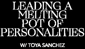 MASTERCLASS w/ Toya Sanchez