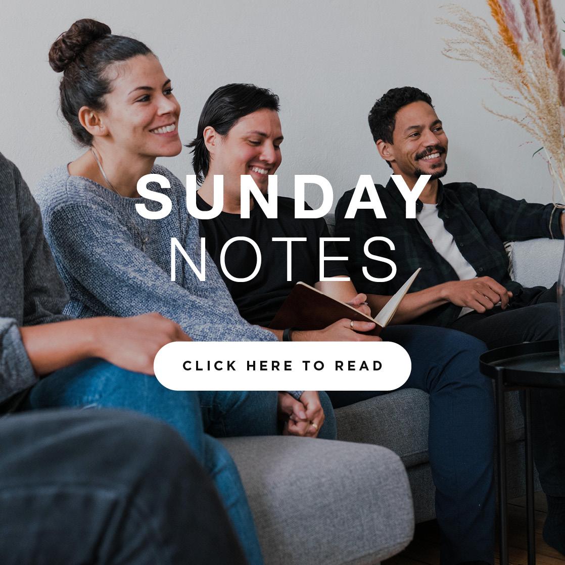 Sunday Notes